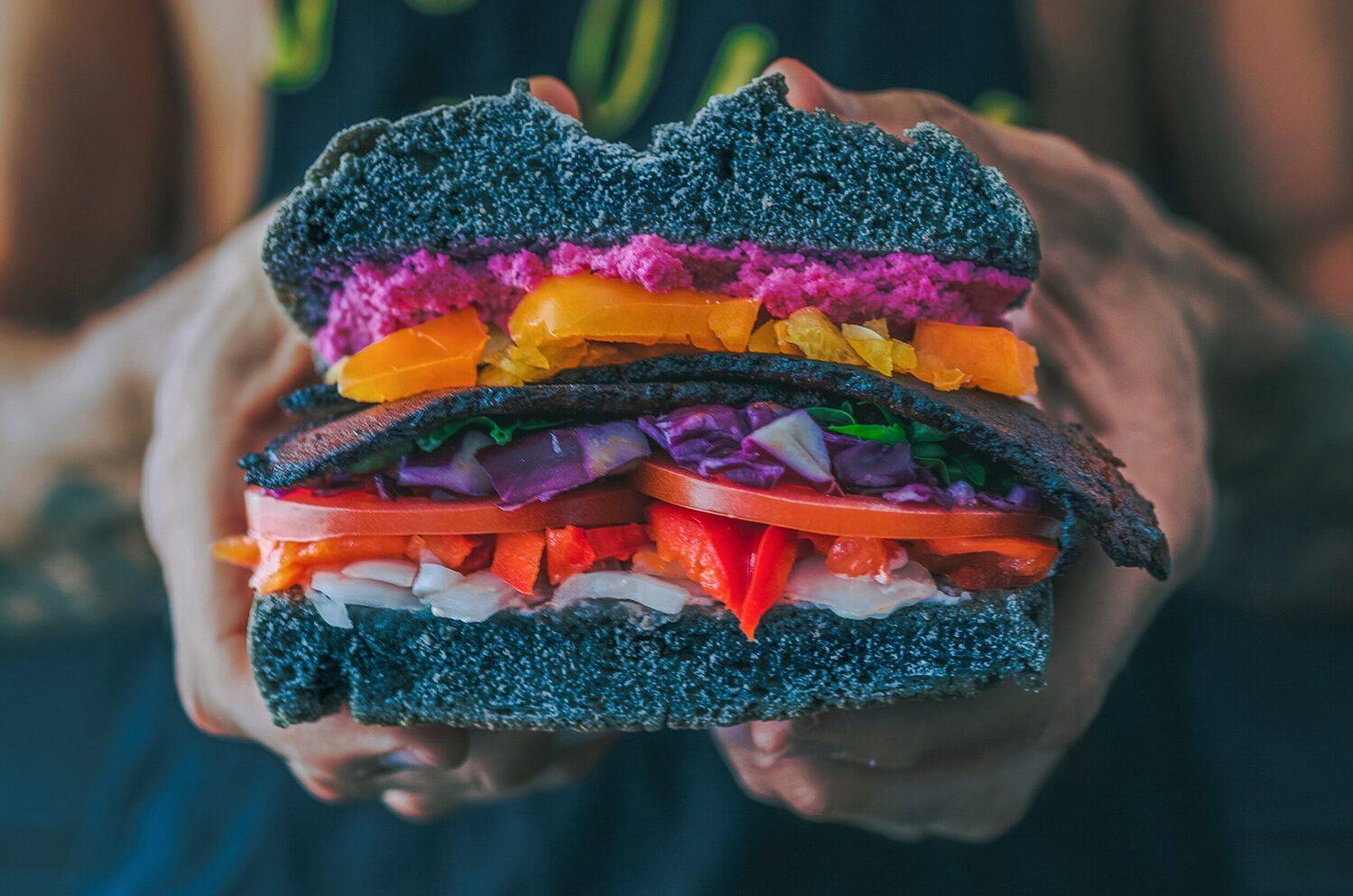 Veganski burger, prehrana za vegane